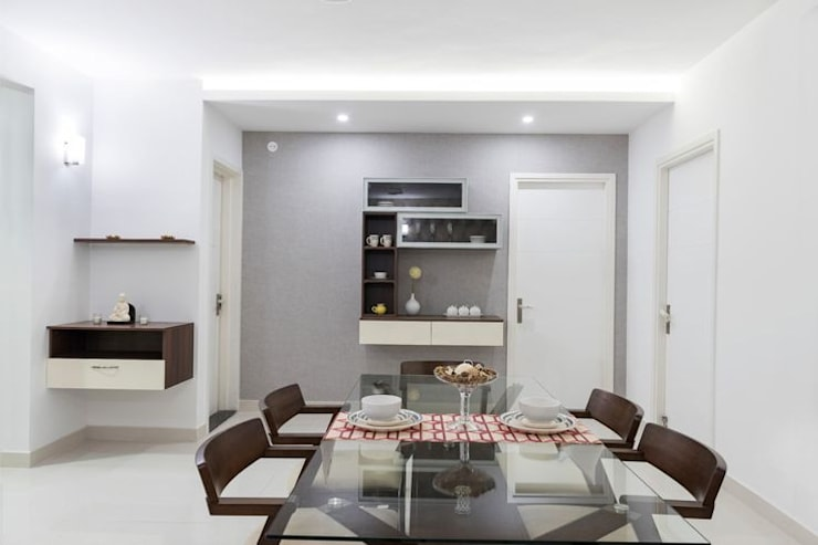 Completed Home Design:  Dining room by HomeLane.com,