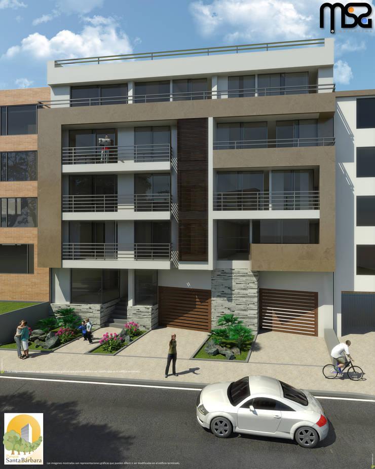 Fachada Principal: Casas de estilo  por MSA Arquitectos