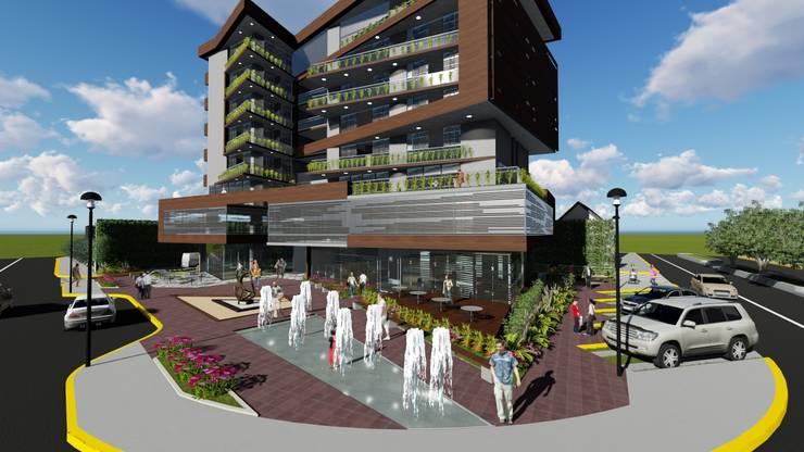 Plaza de acceso: Casas ecológicas de estilo  por Vida Arquitectura