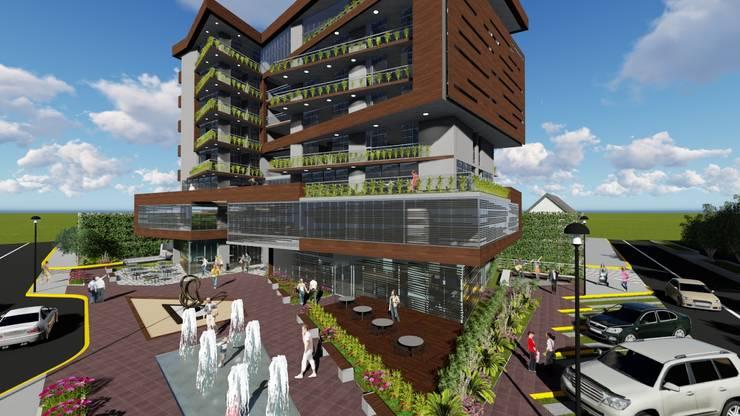 Vista exterior: Casas multifamiliares de estilo  por Vida Arquitectura
