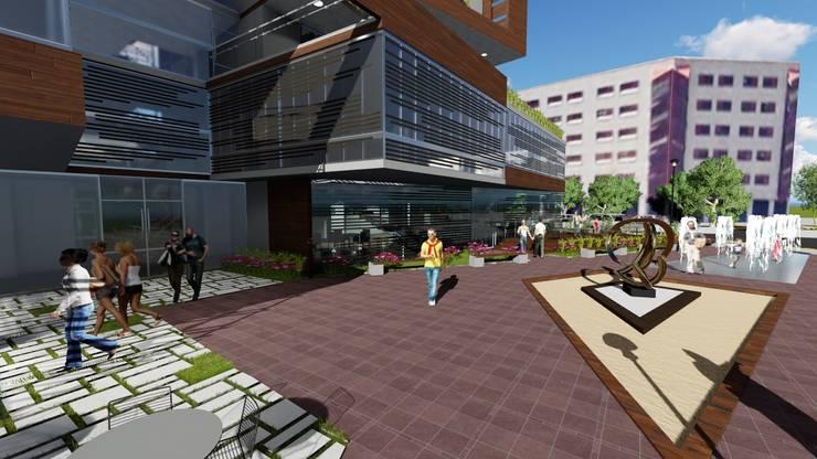 Edificio multifamiliar. Arquitectura Bioclimatica: Terrazas de estilo  por Vida Arquitectura