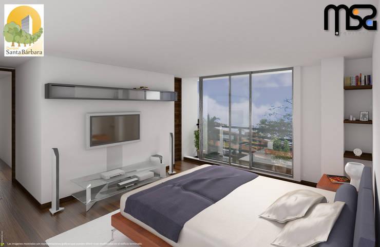 Vista interior: Habitaciones de estilo  por MSA Arquitectos