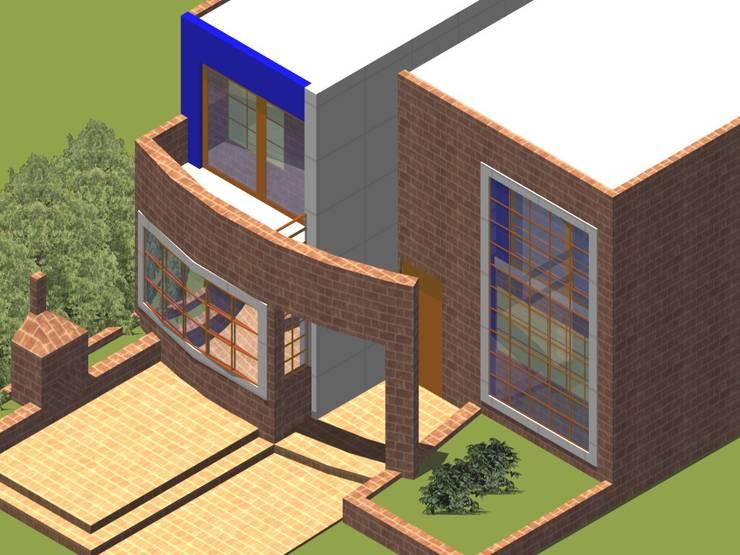 Axonometría fachada principal: Casas de estilo  por MSA Arquitectos
