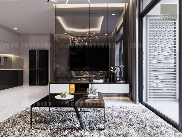 Nội thất chung cư cao cấp Vinhomes Central Park:  Phòng khách by ICON INTERIOR