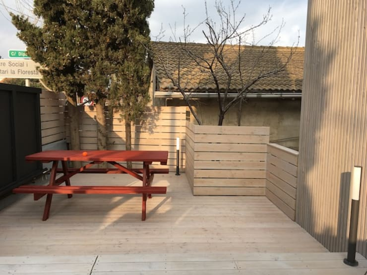 Interior design Barcelona,Passive House, La Floresta : Terrazas de estilo  de Studioapart