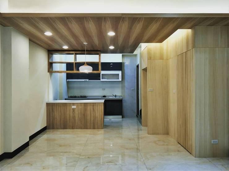 璞舍-0N.5室:  廚房 by 喬克諾空間設計