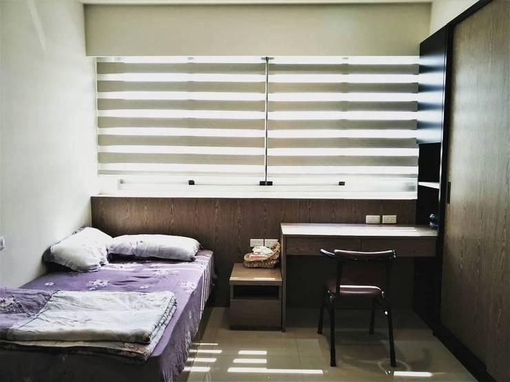 璞舍-0N.5室:  臥室 by 喬克諾空間設計