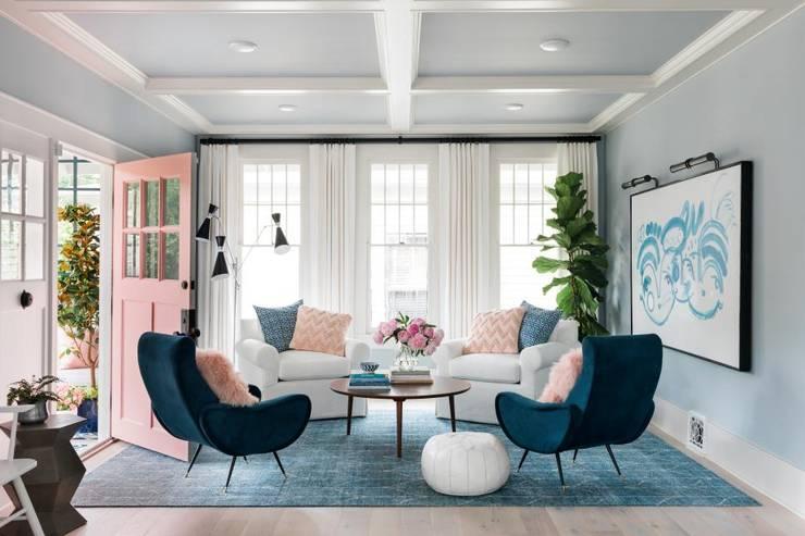 Das Zentrum: moderne Wohnzimmer von Pomp & Friends - Interior Designer