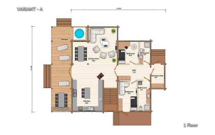 План 1ого этажа:  в . Автор – LUMI POLAR