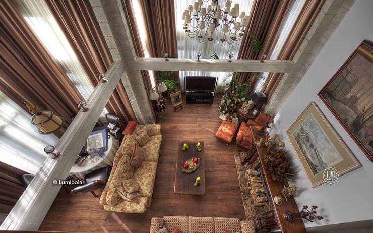 Гостиная, вид сверху: Гостиная в . Автор – LUMI POLAR