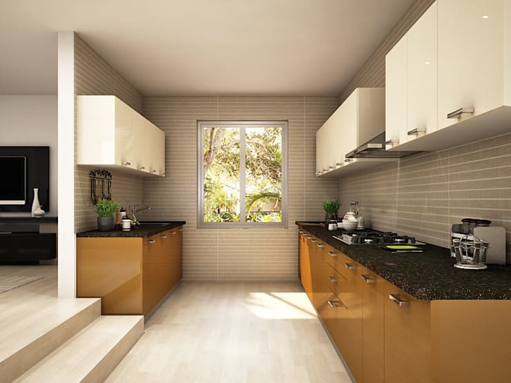 Modular Kitchen Design Ideas: asian  by HomeLane.com,Asian