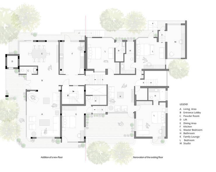 Second Floor Plan: modern  by mold design studio,Modern