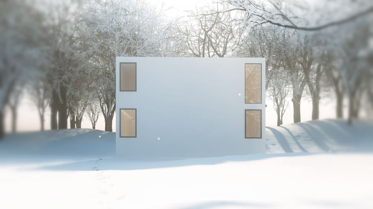ARA 건축사사무소의 간소주택: 여름 그리고 겨울풍경. : ARA의  주택