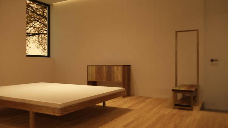 ARA 건축사사무소와 오크우드스튜디오의 가구디자인 디테일 이미지: ARA의  침실