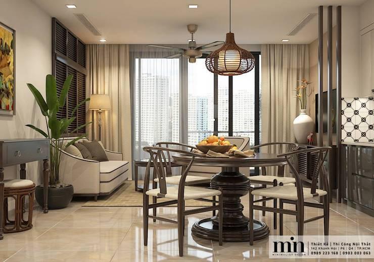 Vinhomes Golden River Apart:  Phòng khách by Min Decor