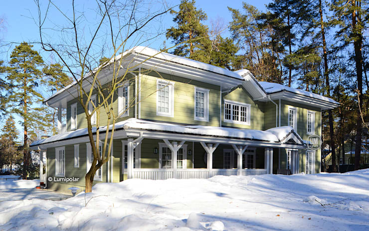 Дом Baroness 464: Дома с террасами в . Автор – LUMI POLAR