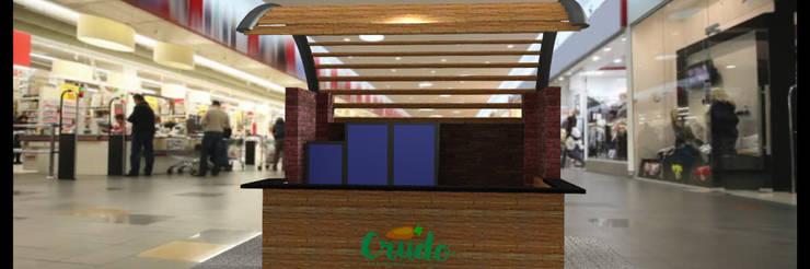 Arquitectura comercial para los locales de comida saludable CRUDO SABIDURÍA LÍQUIDA:  de estilo  por JOSE RAFAEL FERERO ARQUITECTO