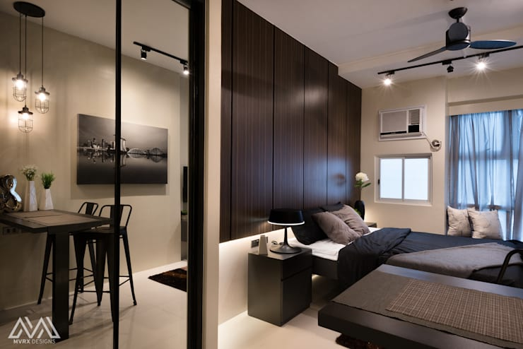Modern Lux—Wil Tower QC:  Bedroom by MVRX Designs