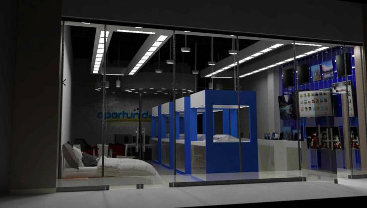 ALMACEN OPORTUNIDADES: Centros comerciales de estilo  por AM2 Arquitectura & Mobiliario sas, Industrial Compuestos de madera y plástico