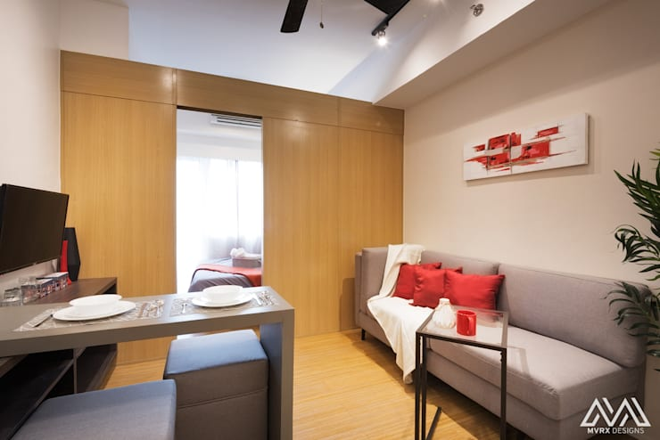 SMDC Grace: modern Living room by MVRX Designs