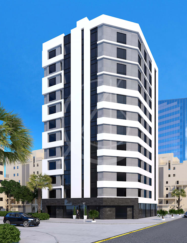 12 Story Modern Apartment Exterior Design by Comelite ...
