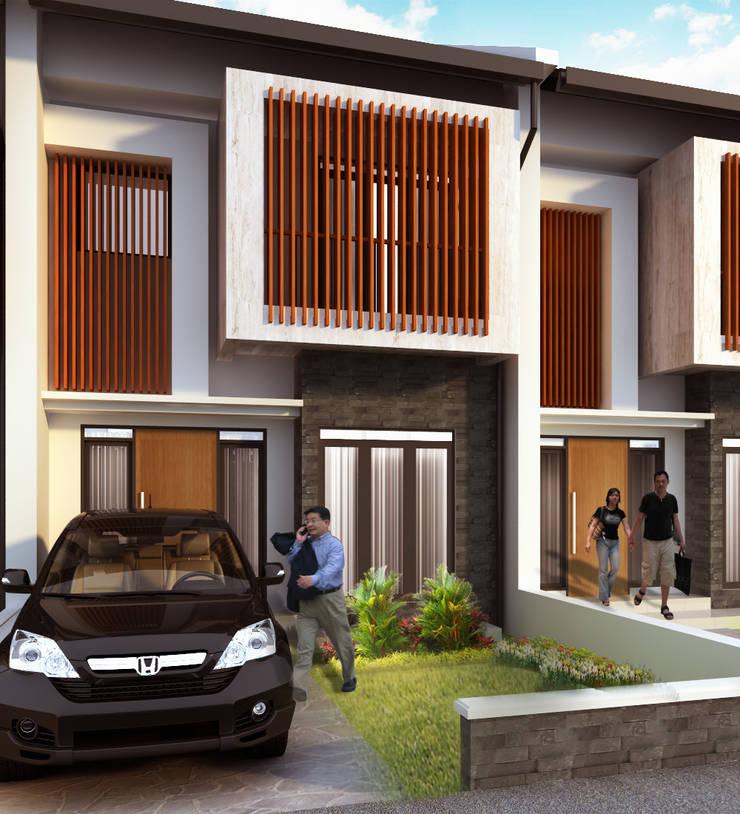 Bukit Duri Townhouse:  Rumah tinggal  by Kahuripan Architect