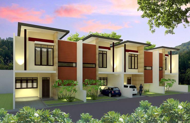 Margahayu Townhouse:  Rumah tinggal  by Kahuripan Architect