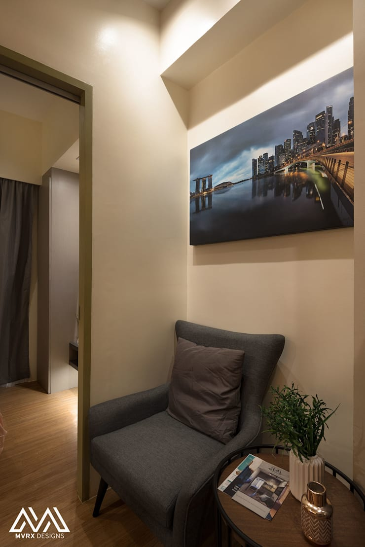Touch of Modern—Laureano Di Trevi Tower 2:  Living room by MVRX Designs