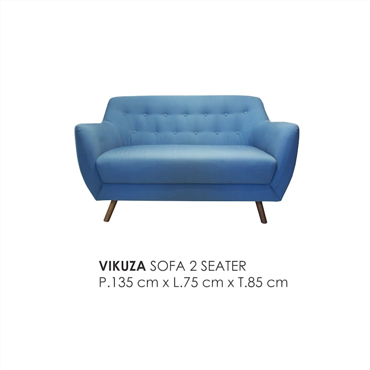 VIKUZA SOFA 2 SEATER :  Living room by VIKU FURNITURE & INTERIOR DESIGN