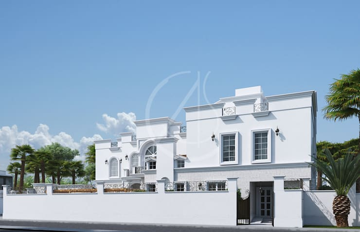 Villas de estilo  de Comelite Architecture, Structure and Interior Design ,