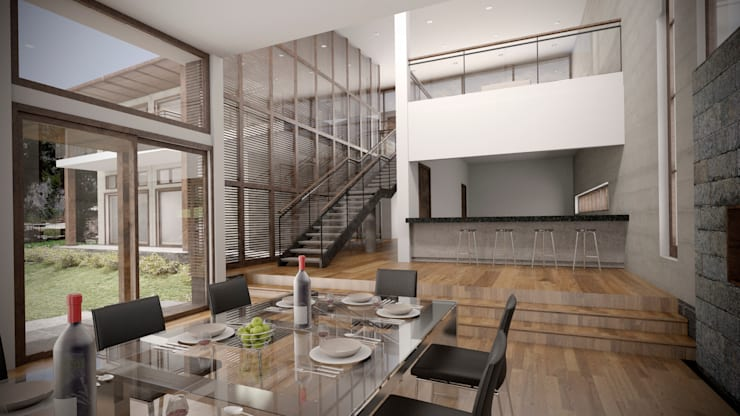 Casa ''La Pendiente'': Comedores de estilo  por Artem arquitectura