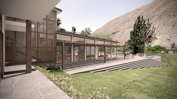 Casa ''La Pendiente'': Casas de estilo moderno por Artem arquitectura