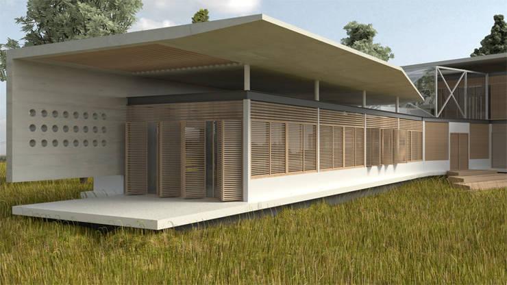 Casa <q>Pieles</q>: Casas de estilo  por Artem arquitectura