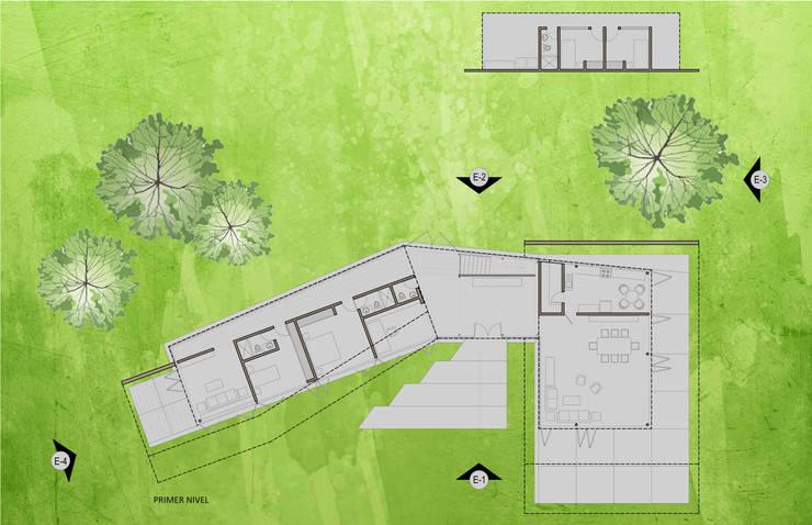 "Casa ""Pieles"": Casas de estilo  por Artem arquitectura"