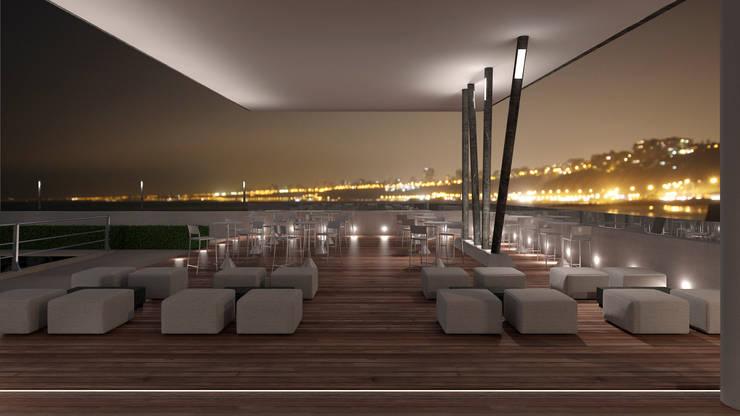 Restaurante Puerto: Bares y Clubs de estilo  por Artem arquitectura,