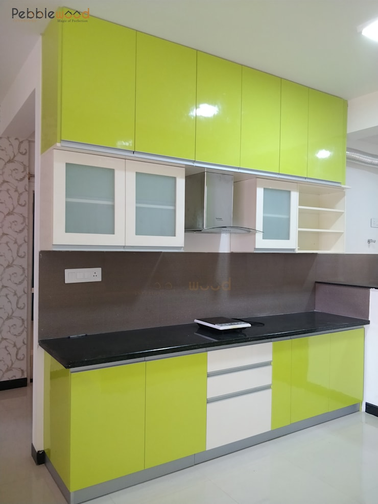 MIMS Residence—Bangalore: modern Kitchen by Pebblewood.in