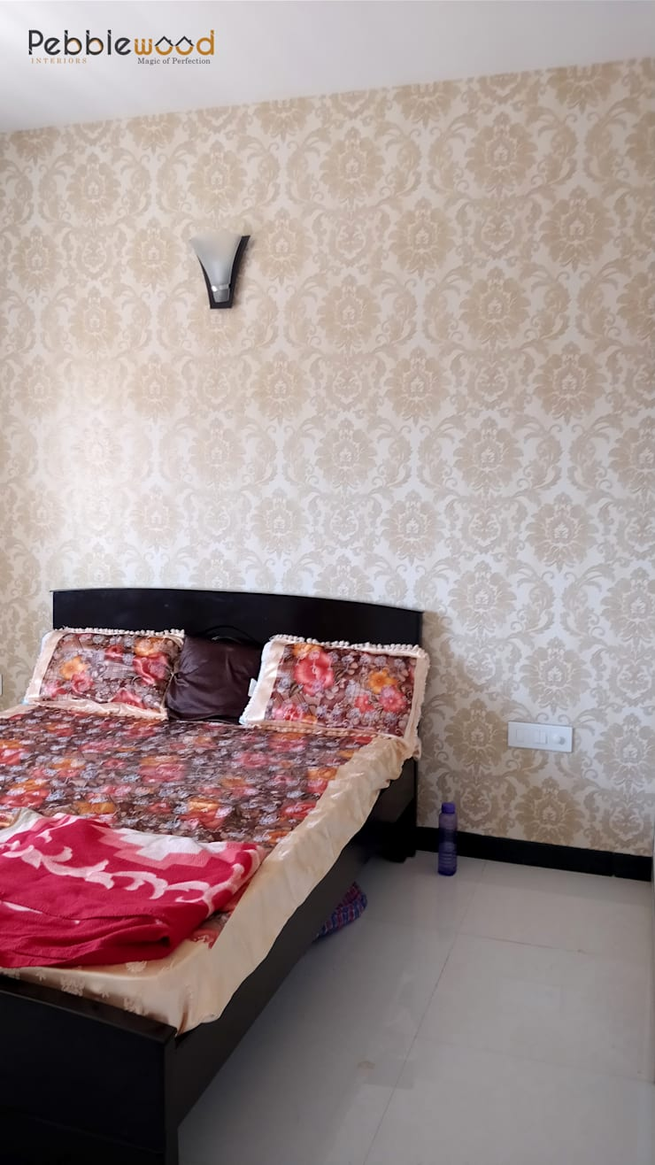 MIMS Residence—Bangalore: modern Bedroom by Pebblewood.in