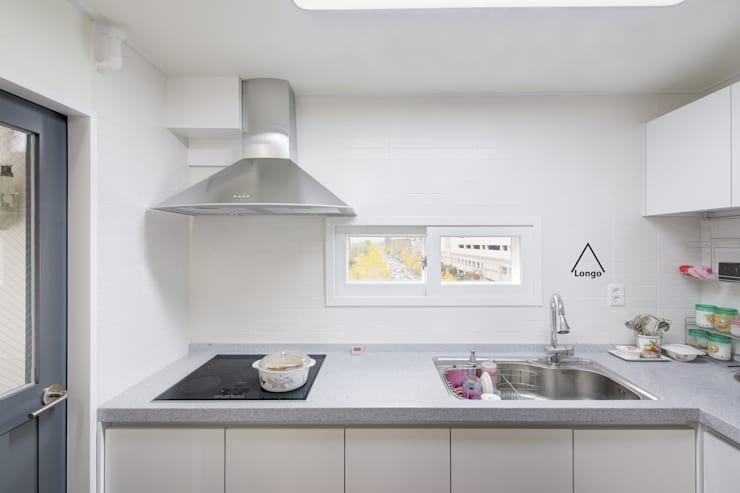 목동 진도 2차 아파트 인테리어: atelier longo 아뜰리에 롱고의  다이닝 룸