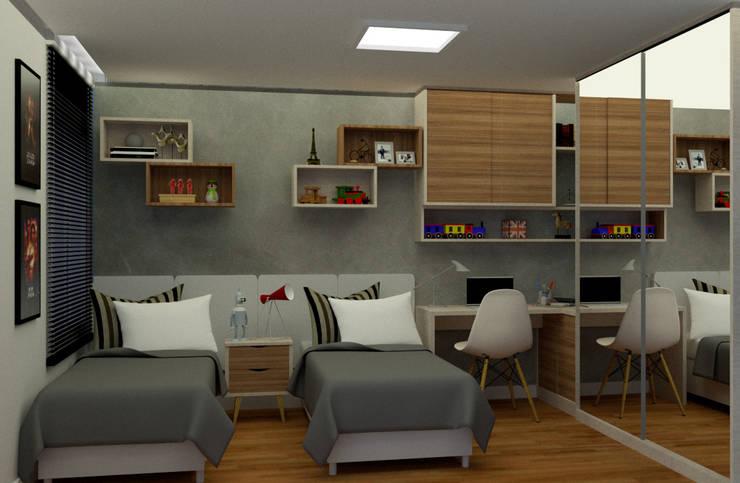 Habitaciones juveniles de estilo  por MN Arquitetura e Urbanismo