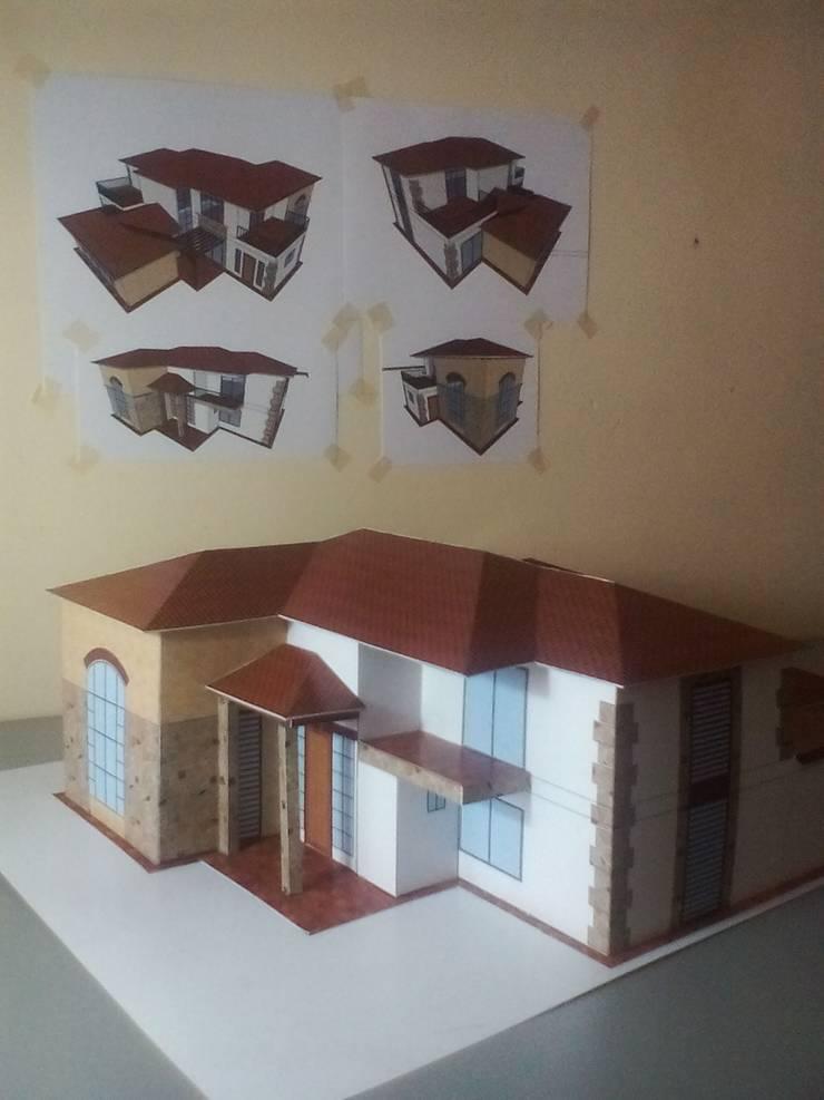 Maquetas Papercraft:  de estilo  por Arquitecto Mauricio García