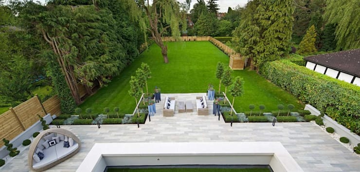 Jardines: Jardines zen de estilo  por MDQ ARCHITECTURE CHILE