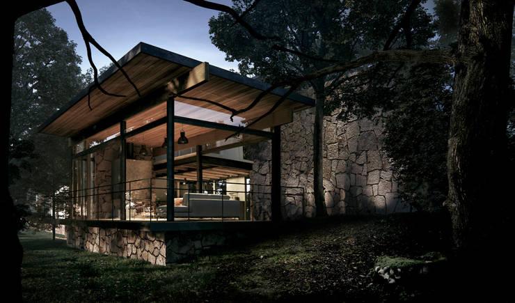 CASA TUL.: Terrazas de estilo  por JCh Arquitectura