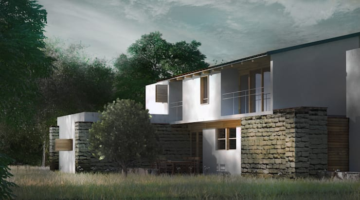 CASA TUL.: Casas de estilo  por JCh Arquitectura