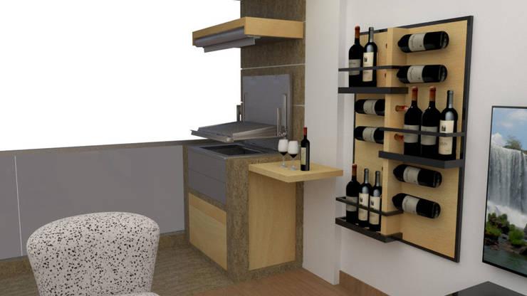 Diseño sala – comedor : Terrazas de estilo  por DIS.OLIVER QUIJANO