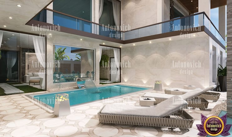 Architectural design solutions of Katrina Antonovich:  Houses by Luxury Antonovich Design, Modern