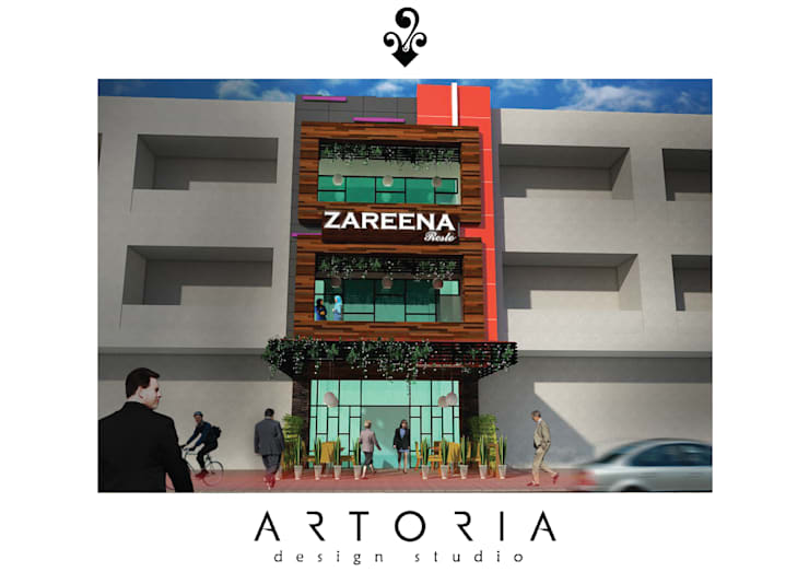 Zareena Resto Facade Design:   by Artoria Design Studio
