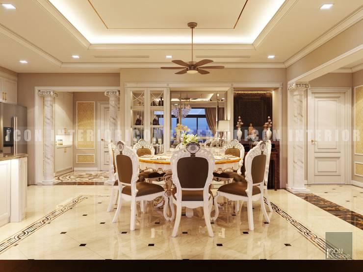 Phong cách Cổ điển trong thiết kế nội thất căn hộ Vinhomes Central Park:  Phòng ăn by ICON INTERIOR