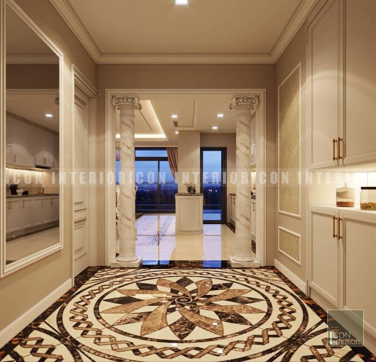 Phong cách Cổ điển trong thiết kế nội thất căn hộ Vinhomes Central Park:  Cửa ra vào by ICON INTERIOR