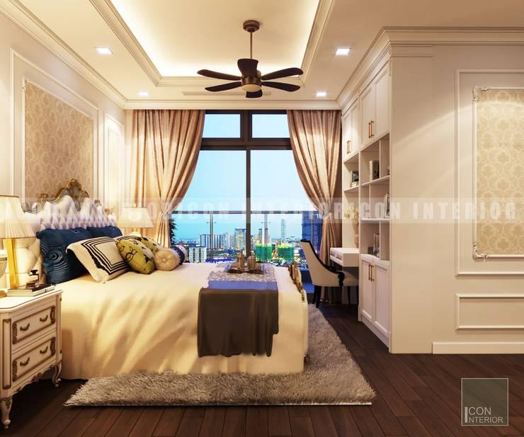 Phong cách Cổ điển trong thiết kế nội thất căn hộ Vinhomes Central Park:  Phòng ngủ by ICON INTERIOR