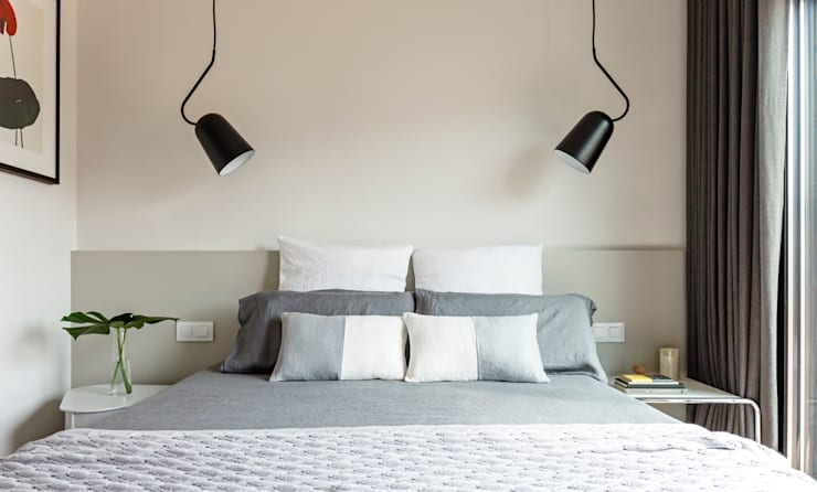 Reforma habitación doble vivienda: Dormitorios de estilo  de Sezam disseny d'Interiors SL